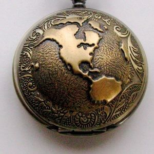 """Other - Men's Bronze """"vintage look"""" pocket watch and chain"""